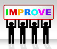 Improve Improvement Indicates Growth Development And Advancing Royalty Free Stock Photos