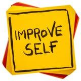 Improve self motivational reminder Royalty Free Stock Photo
