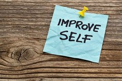 Improve self motivational reminder Stock Photo
