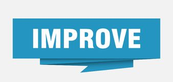 Improve. Sign.  paper origami speech bubble.  tag.  banner stock illustration