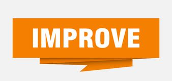 Improve. Sign.  paper origami speech bubble.  tag.  banner royalty free illustration