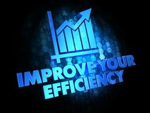 Improve Your Efficiency on Digital Background. Stock Images