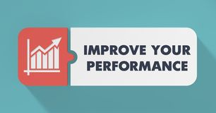 Improve Your Performance Concept in Flat Design. Royalty Free Stock Photography