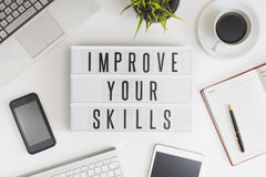 Improve your skills concept Stock Photography