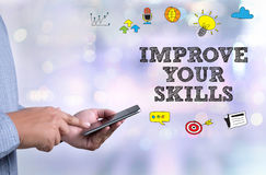 IMPROVE YOUR SKILLS Stock Images