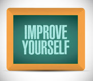 Improve yourself sign illustration design Stock Photography