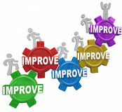 Improved Word Gears People Rising Increasing Results Better Perf Stock Images