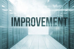 Improvement against server hallway in the blue sky Stock Photos