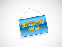 Improvement ahead banner sign Royalty Free Stock Photography