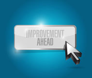 Improvement ahead button sign Stock Image
