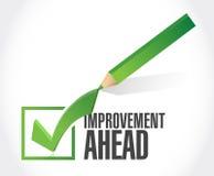 Improvement ahead check mark sign Stock Image