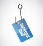 Improvement ahead hook tag sign Royalty Free Stock Images