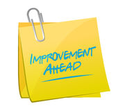Improvement ahead memo post sign Royalty Free Stock Images