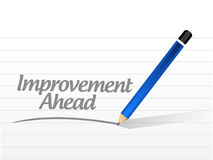 Improvement ahead message sign Stock Image