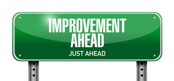 Improvement ahead road sign illustration design Stock Photo