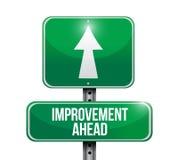 improvement ahead road sign illustration Stock Image