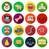 Improvement, business, progress and other web icon in flat style. theater, italy, rest icons in set collection. Royalty Free Stock Image
