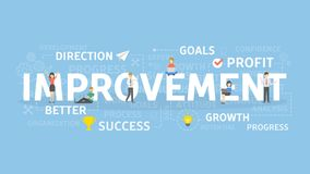 Improvement concept illustration. Idea of success, growth and profit Stock Images