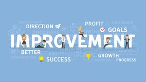 Improvement concept illustration. Idea of success, growth and profit Stock Photography