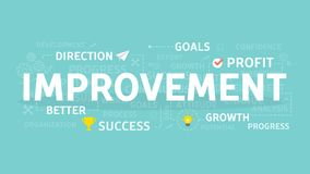 Improvement concept illustration. Idea of success, growth and profit Royalty Free Stock Photo