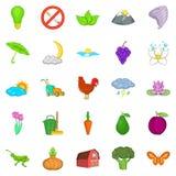 Improvement of ecology icons set, cartoon style. Improvement of ecology icons set. Cartoon set of 25 improvement of ecology vector icons for web isolated on Royalty Free Stock Photography