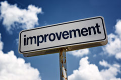 Improvement street sign Stock Photos