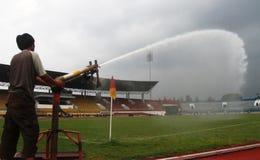 Improves football stadium Stock Photos
