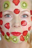 Improving mask from fruit Stock Image