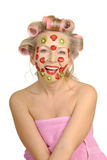Improving mask from fruit Royalty Free Stock Photo