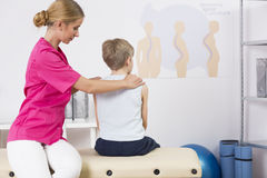 Improving posture for a healthy back Stock Image