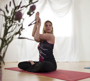 Improving Shoulder Flexibility with Yoga Stock Images