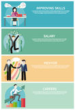 Improving Skills, Careers, Mentor, Salary Concept Royalty Free Stock Images