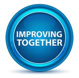 Improving Together Eyeball Blue Round Button vector illustration
