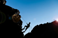Improvise simple climbing. Crazy climbing ; improvise simple climbing Royalty Free Stock Image