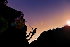 Improvise simple climbing. Fun and explorer ;improvise simple climbing Royalty Free Stock Photo