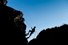 Improvise simple climbing & success. Success climber ;improvise simple climbing Stock Photos