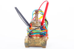 Improvised Explosive Device isolated on a white background Royalty Free Stock Images