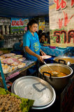 Improvised restaurant at temple fair in Thailand Royalty Free Stock Photo