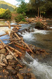 Improvised run-of-stream micro hydro electricity generation. , Laos Royalty Free Stock Images