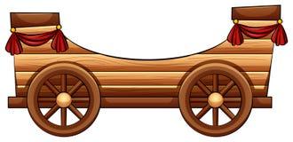 Improvised wooden bandwagon Stock Images