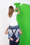 Improvisierung, wenn Sie keine Leiter haben Stockbild