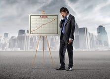 Impôts élevés Photo stock