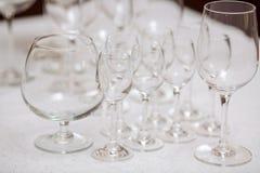 Impty Glasses of vine Royalty Free Stock Photos