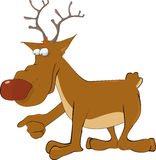 Impudent elk from mum's fairy tales Stock Images
