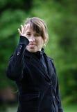 Impudent girl  Stock Photos