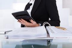 Impuesto calculador del contable imágenes de archivo libres de regalías