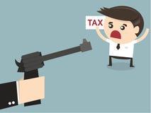 Impuesto de la paga del hombre de negocios, diseño plano Imagen de archivo libre de regalías