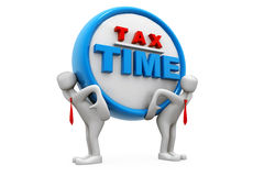 Impuesto demasiado pesado Imágenes de archivo libres de regalías