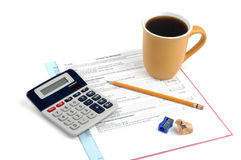 Impuesto sobre la renta Foto de archivo