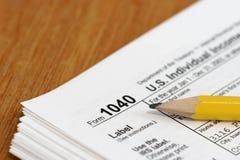 Impuesto sobre la renta Fotografía de archivo